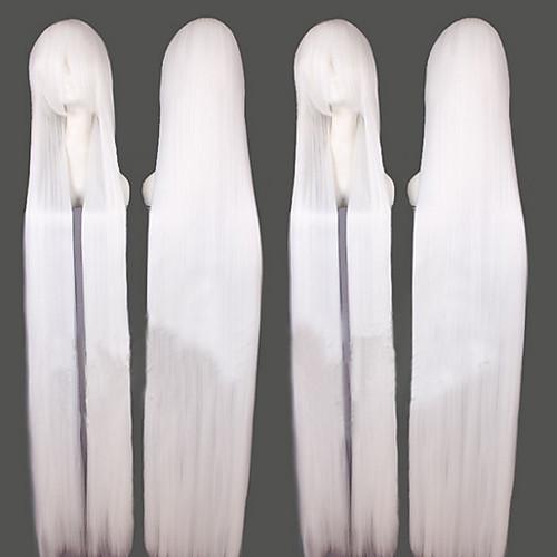 Inuyasha Sesshomaru Белый длинный прямой парик косплей Lightinthebox 1718.000