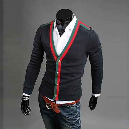 Мужской кардиган с V-образным вырезом и отделкой в стиле Gucci Lightinthebox 1033.000