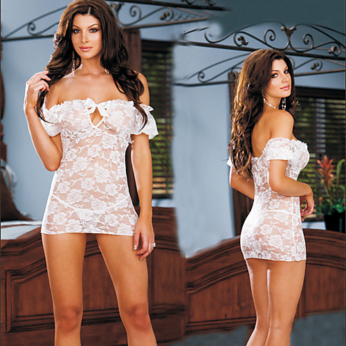 Черные / белые кружева с плеча сексуальное женское белье Lightinthebox 364.000