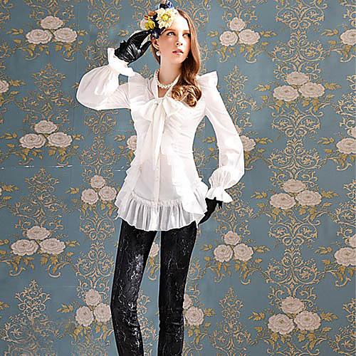 Мода DABUWAWA Женские Лук рюшами белой рубашке Lightinthebox 4009.000