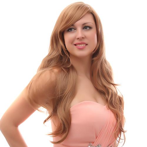 Монолитным смешанных волос длинные золотые Блоне волнистые волосы парики Lightinthebox 1761.000