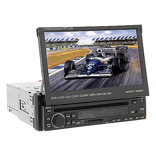 DVD-плеер автомобильный с 7-дюймовым 1Din TFT экраном, поддержка BT, TV, USB/SD Lightinthebox 8163.000