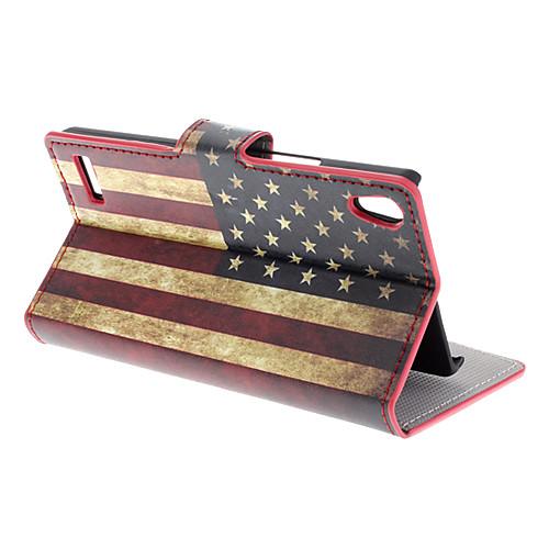 Американский флаг шаблон для всего тела чехол с карты памяти для Huawei Ascend P6 Lightinthebox 265.000