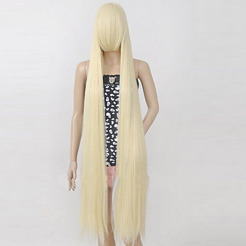 Chobits Chii Бежевый длинный прямой парик косплей Lightinthebox 1718.000