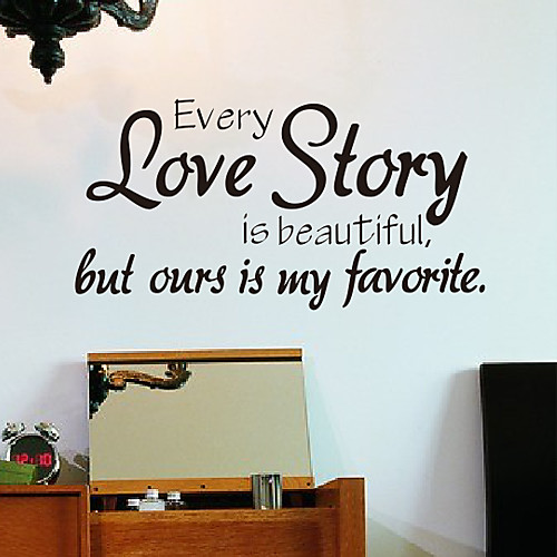 Слова любовью Наши наклейки любовь стены Lightinthebox 858.000