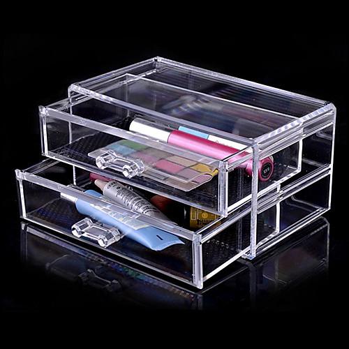 акриловая ящик прозрачный хранения двухслойные косметика косметические организатор Lightinthebox 858.000