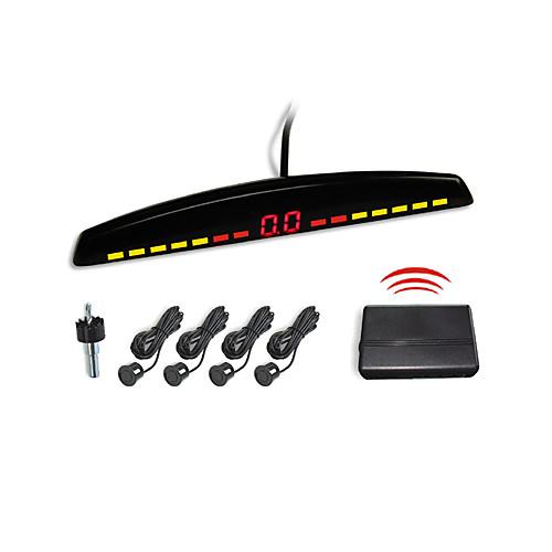 4 беспроводными радар парковочный сенсор системы-светодиодный дисплей и зуммер сигнализации (белый, черный, серебристый) Lightinthebox 1073.000