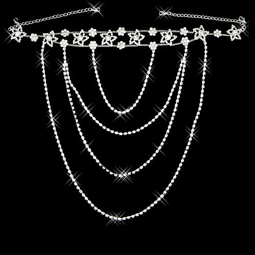 Элегантный серебряный сплав с покрытием Rhinestone Свадебные плеча ювелирных изделий цепи-Комплект из 2 Lightinthebox 1881.000