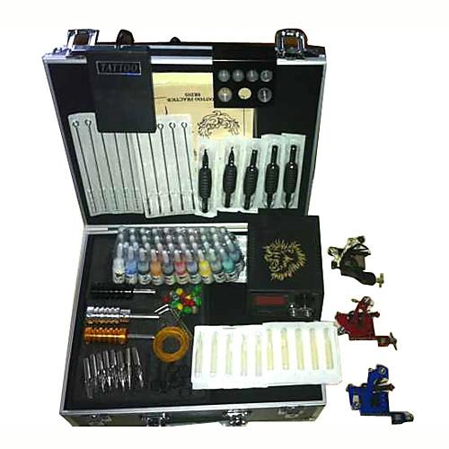 Набор из 3 тату-машинок с ЖК дисплеем ( 40 цветов чернил) Lightinthebox 5156.000