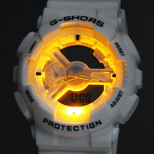 Водонепроницаемые спортивные часы с двумя циферблатами (белые) Lightinthebox 429.000