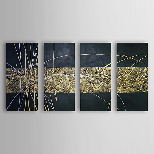 Ручная роспись абстрактные картины маслом с растянутыми Рисунок кадр Набор из 4 1311-AB1138 Lightinthebox 5156.000