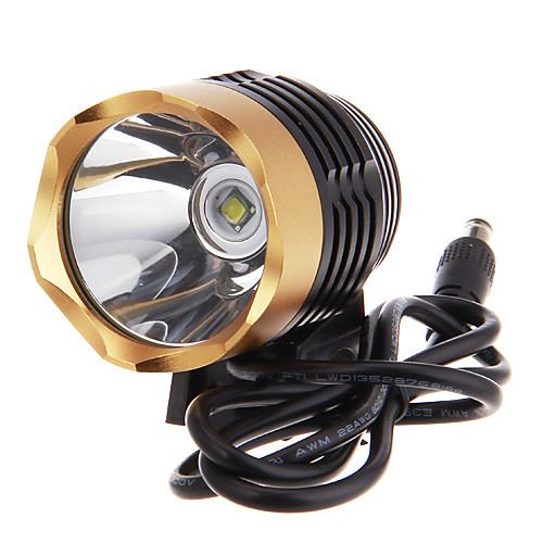 3 режимный светодиодный велосипедный фонарь Cree XM-L T6 (1000LM, 4x18650, черный с золотом) Lightinthebox 1288.000