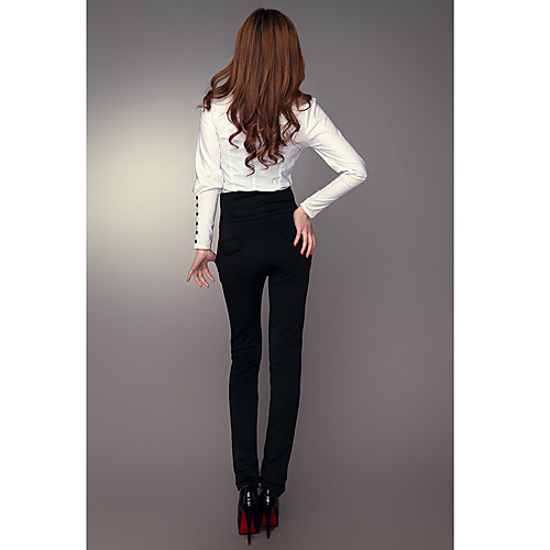DOWISI женские черные классические брюки платье с высокими Талия Lightinthebox 773.000