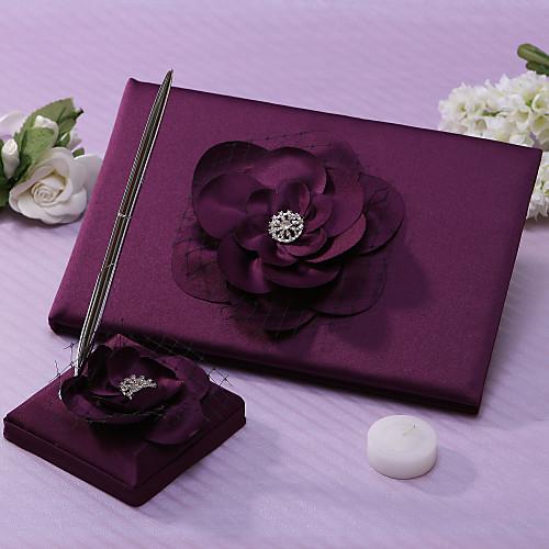 Lalic гостевая книга свадьбы и Pen Set с цветком Lightinthebox