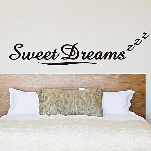 Слова Сладкие мечты стикеры стены Lightinthebox 1288.000
