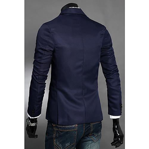 Мужская повседневная Синий карманы Длинные рукава хлопок Костюм Lightinthebox 1312.000