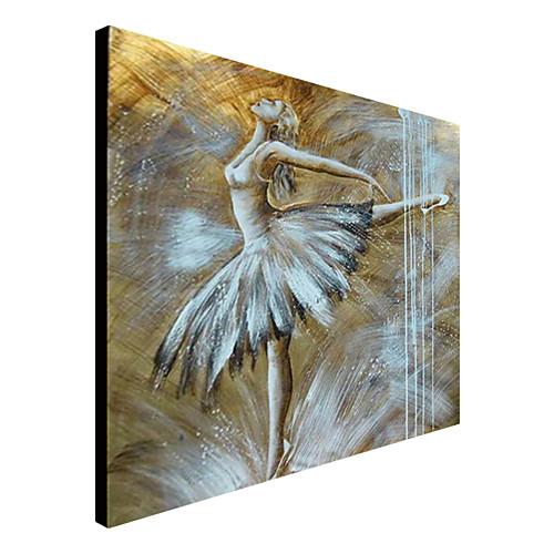 Ручной росписью маслом Люди Дама с растянутыми Frame 1309-PE1011 Lightinthebox 3007.000