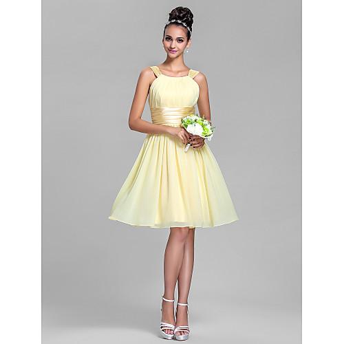 Шифоново до колене платье