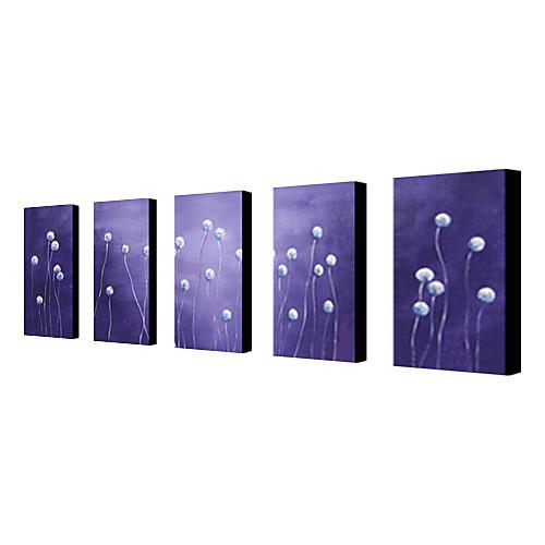 ручной росписью маслом цветочный белый одуванчик с растянутыми кадр набор из 4-1310 fl1181 Lightinthebox 5156.000