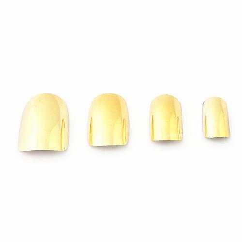 60PCS Золотой Nail ногтей Акриловые Металлическое покрытие Ложные советы Lightinthebox 248.000