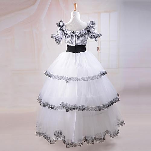 с коротким рукавом южная красавица костюм белого кружева классический Лолита платье Lightinthebox 3437.000