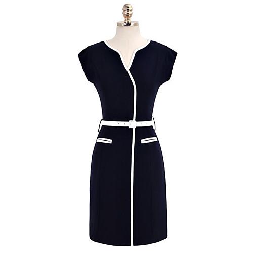 MFL Тонкий рукавов черное платье (бесплатно пояса) Lightinthebox 944.000