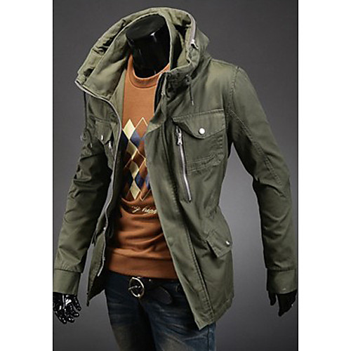 Мужчины толстые плащ куртка Lightinthebox 1703.000