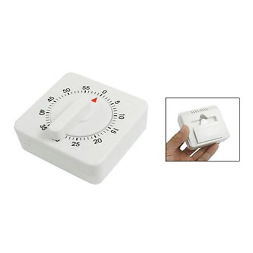 Белый пластиковый квадратной формы 55 минут Приготовление Таймер для кухни Готовить Lightinthebox 300.000