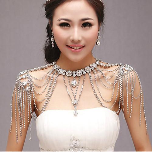 Элегантный серебряный сплав с покрытием Rhinestone Свадебные ювелирные цепи плеча Lightinthebox 3179.000