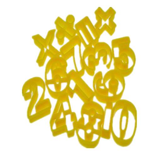 Цифры и знак операции Форма Cookie Cutter Плесень набор из 14 шт Lightinthebox 300.000