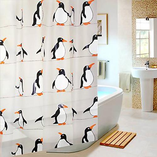 Shower Curtain Южного полюса Пингвин печати W71