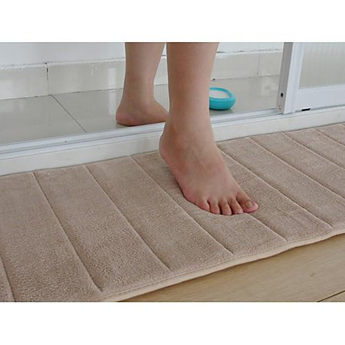 Коврик для ванной Memory Foam бежевый Полоса 16 х 24