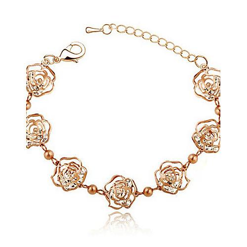 lureme вырос очарование ожерелье серьги браслет комплект ювелирных изделий (золотой) Lightinthebox 472.000