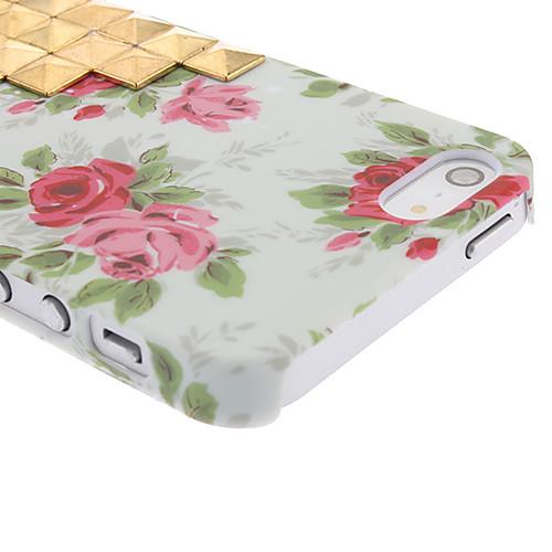 Новизна дизайна Золотой Заклепки наверх и Роуз Pattern Жесткий чехол с ногтей Клей для iPhone 5/5S Lightinthebox 171.000