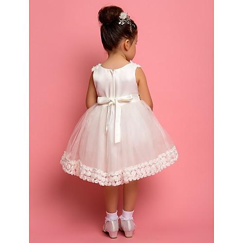 -линии жемчужина чай длины атласа и органзы цветок девушке платье с цветами Lightinthebox 2148.000