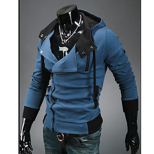 Ürün мода Slim пальто Hoodie (синий) Lightinthebox 1073.000