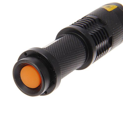3 режимный светодиодный фонарик с увеличителем, с зажимом XP-E Q5 (240LM, 1xAA, Black) Lightinthebox 257.000