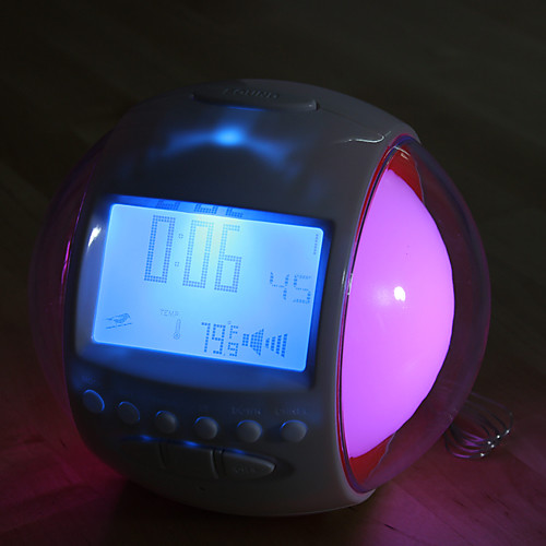 Цифровой будильник в форме шара диаметром 2.5