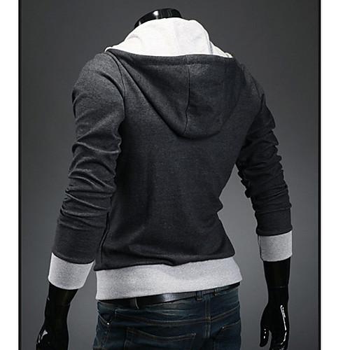 KICAI Мужская мода Slim Толстовка пальто (темно-серый) Lightinthebox 944.000