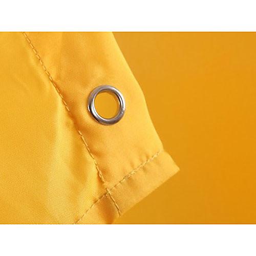 Shower Curtain полиэстер водонепроницаемые чистый желтый х W72 L72