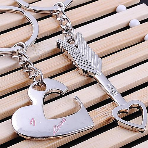 Сердце Пара Lover и Стрелка в форме Брелки серебряные Lightinthebox 128.000