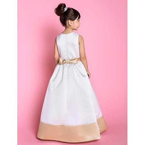 Онлайн квадратных длиной до пола атласная Детские платья (733927) Lightinthebox 4296.000