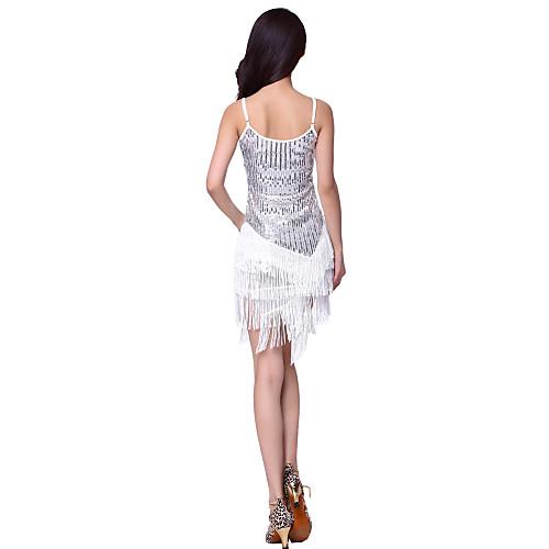 Платье танцевальное женское из полиэстера с бахрамой для исполнения латинских танцев (цвета в ассортименте) Lightinthebox 1073.000