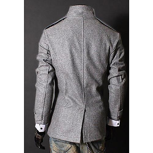 Мужское двубортное пальто из нейлона с воротником-стойкой Lightinthebox 1654.000