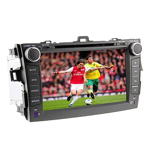 8Inch 2 Дин В-Dash DVD-плеер автомобиля для Toyota Corolla 2007-2011 с 3G, WiFi, GPS, BT, IPOD, RDS, сенсорный экран