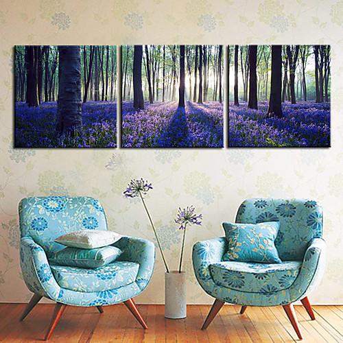 Натянутым холстом печати садово-паркового искусства лес Набор из 3 Lightinthebox 2792.000