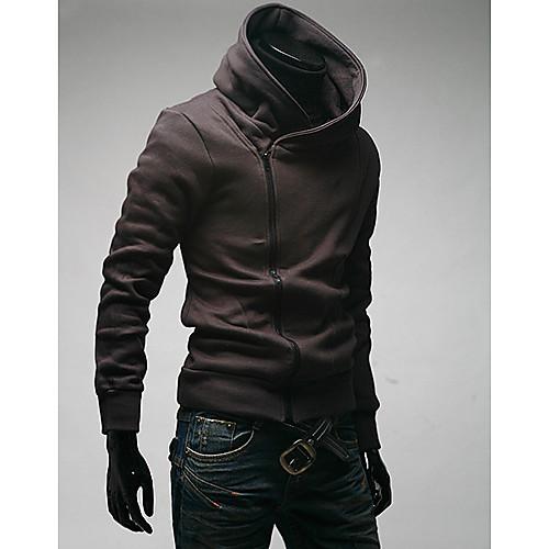 MSUIT Мужская молнии с капюшоном темно-серый рубашка Lightinthebox 944.000