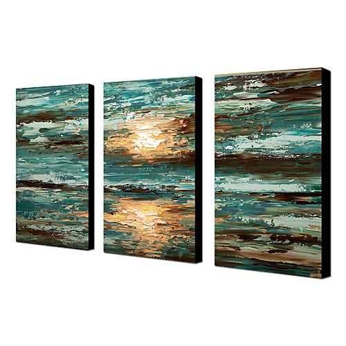 Ручная роспись пейзаж маслом с растянутыми кадр Набор 3 1311-LS1057 Lightinthebox 5156.000