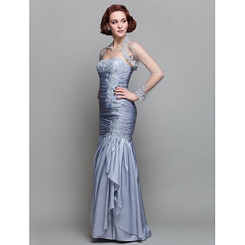 Вечернее платье из тафты для дам, длиной до пола, силуэт русалка Lightinthebox 6015.000