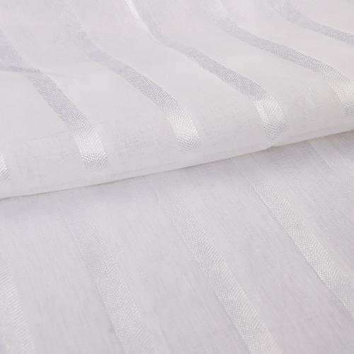 Изящные белые полоски Водопад Valance 25Wx31